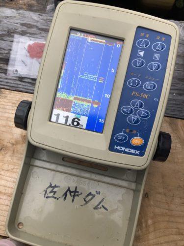 レンタルした魚群探知機