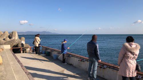 プライベート釣り場のファミリーゾーンの風景