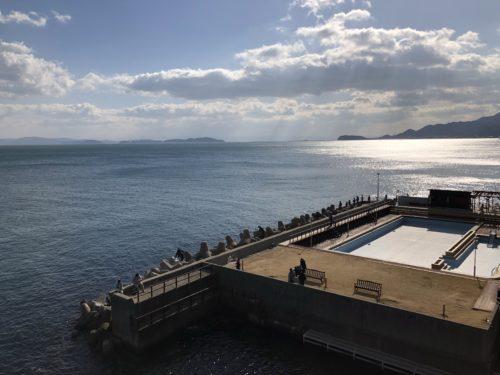 淡路島観光ホテルの温泉のプライベート釣り場